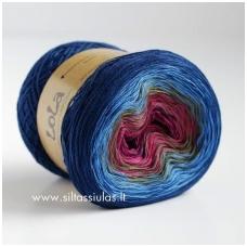 Lola 3 ply/150 g Blue Flower 3612