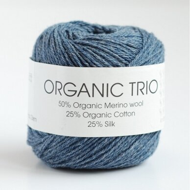 Organic Trio 5034 pilkai mėlyna