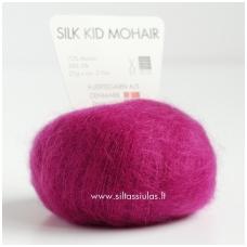 Hjertegarn Silk Kid Mohair 1132 tamsus ciklamenas