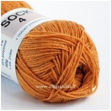 Sock 4 tamsiai geltona 3810