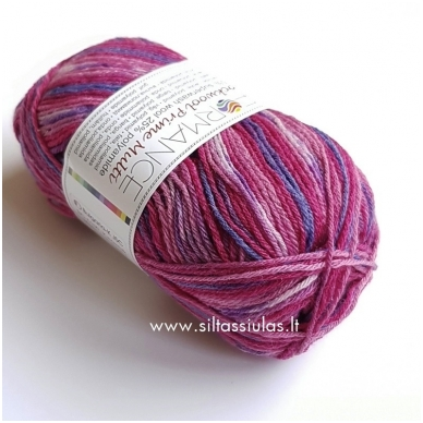 Sockwool Prime Multi 17520 rausvos - mėlynai violetinė 2