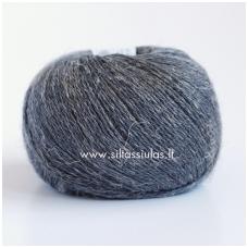 Wool Linen 235 tamsiai pilka