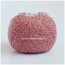 Wooly Cotton 16 raudonai oranžinė