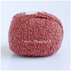 Wooly Cotton 20 plytų raudona