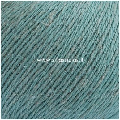 Wool Linen 134 šalavijų žalia 2