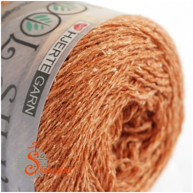 Hjertegarn Wool Silk 3003 riešuto ruda 2