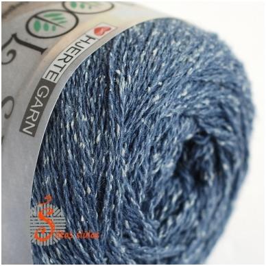 Hjertegarn Wool Silk 3005 nakties dangaus mėlyna 2