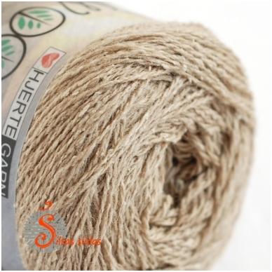 Hjertegarn Wool Silk 3007 smėlio rusva 2
