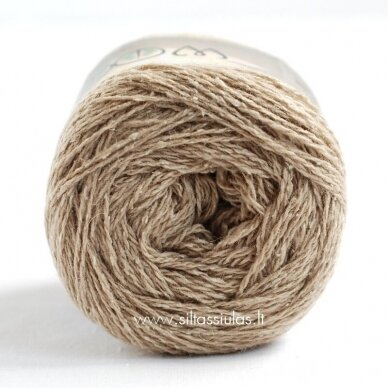 Hjertegarn Wool Silk 3007 smėlio rusva