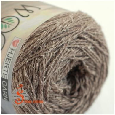 Hjertegarn Wool Silk 3009 medžio ruda 2