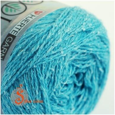 Hjertegarn Wool Silk 3010 vandens žydra 2