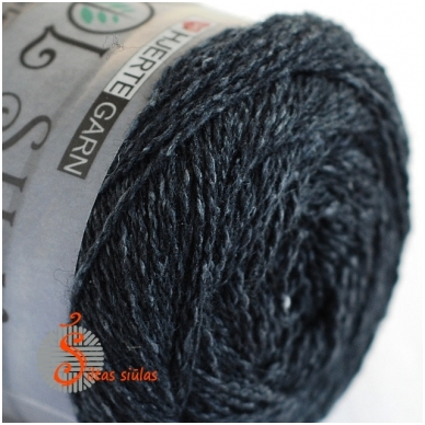 Hjertegarn Wool Silk 3011 anglies juoda 2