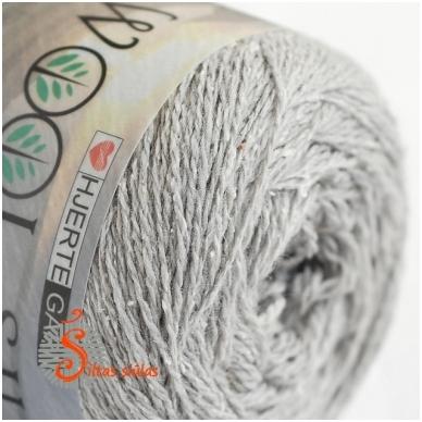 Hjertegarn Wool Silk 3013 sidabro pilka 2