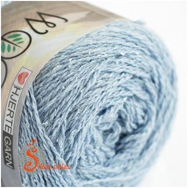 Hjertegarn Wool Silk 3014 šerkšno melsva 2