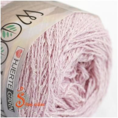 Hjertegarn Wool Silk 3015 švelni rausva 2