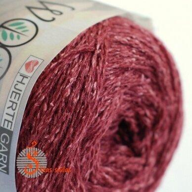 Hjertegarn Wool Silk 3016 vyšnių bordo 2