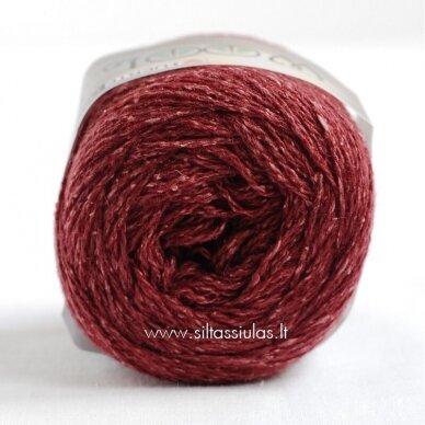 Hjertegarn Wool Silk 3016 vyšnių bordo