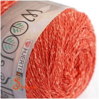 Hjertegarn Wool Silk 3017 rudens oranžinė 2