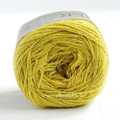 Hjertegarn Wool Silk 3019 citrinų žalia