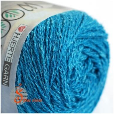 Hjertegarn Wool Silk 3021 lagūnos mėlyna 2