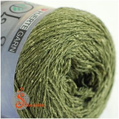 Hjertegarn Wool Silk 3027 miško žalia 2