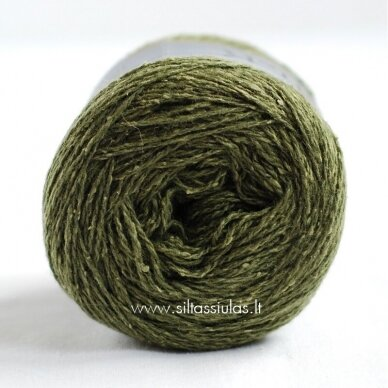 Hjertegarn Wool Silk 3027 miško žalia