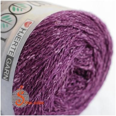 Hjertegarn Wool Silk 3028 baklažano violetinė 2