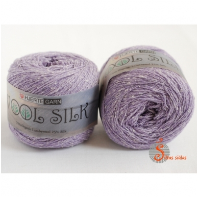 Hjertegarn Wool Silk 3029 alyvų violetinė 2