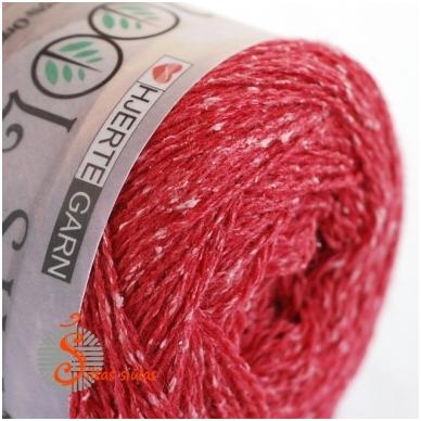 Hjertegarn Wool Silk 3030 aviečių raudona 2