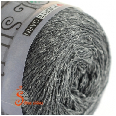 Hjertegarn Wool Silk 3032 grafito pilka 2